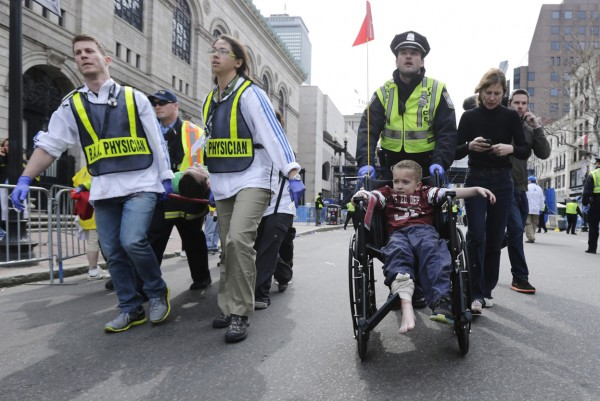 Boston marathon injured child