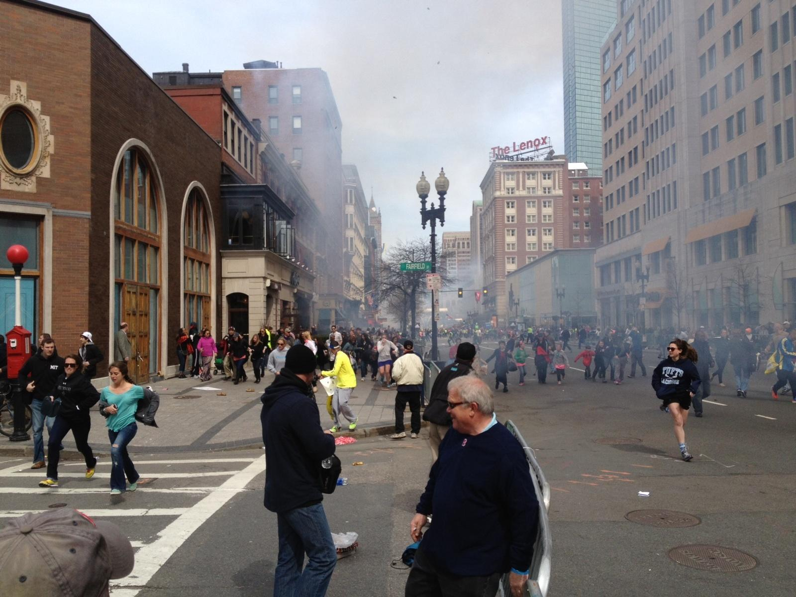 Pictures of the boston explosion