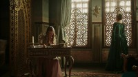 Anastasia writing a letter for Safiye Sultan